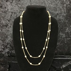 Jewelry - Champagne Pearls on Gold Chain (d015)